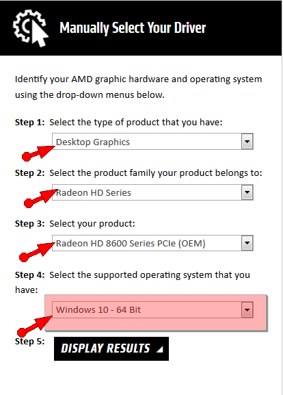 manually update graphics driver windows 10