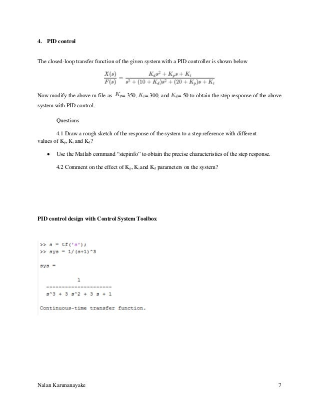 p pi and pid controllers lab manual