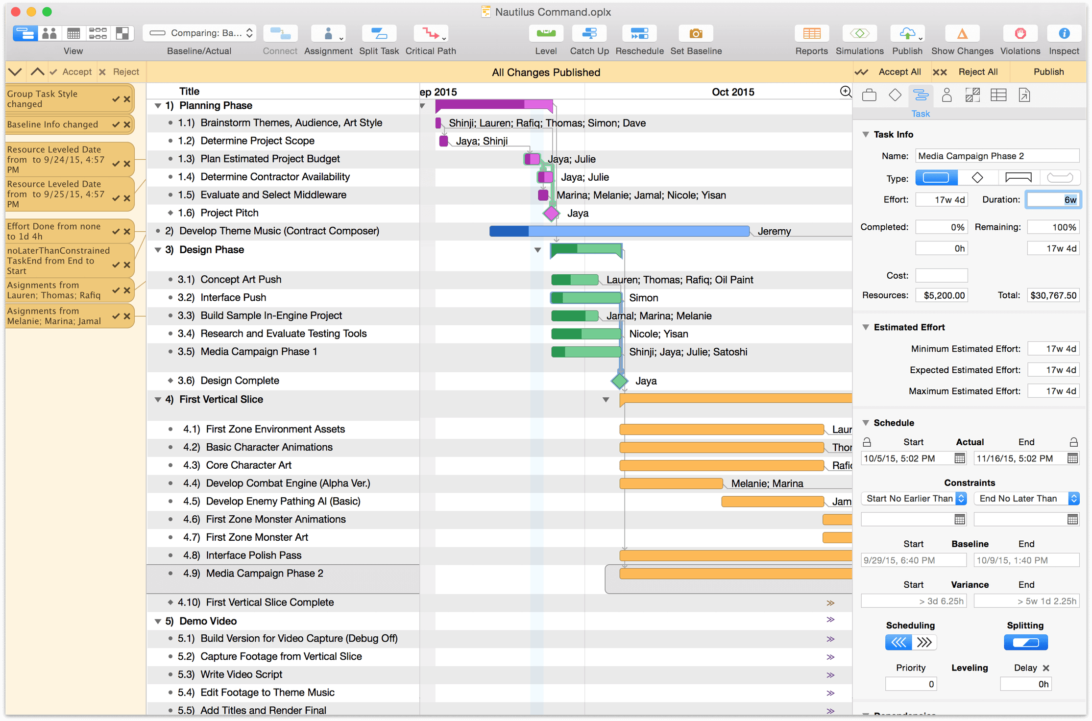 help and manual track changes